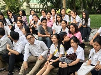 นักศึกษาประชุมเพื่อจัดทำกิจกรรมในงาน M-Science Sport Day